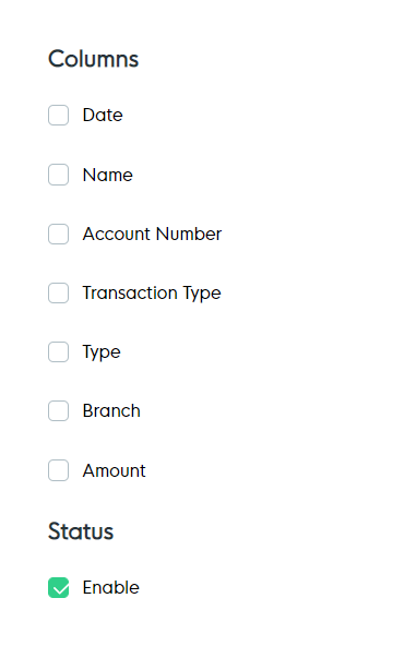 Automated Report Options