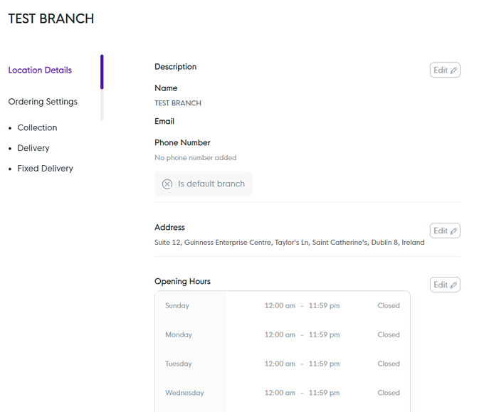 BP - Edit Branch