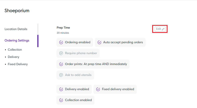 Ordering Settings-1